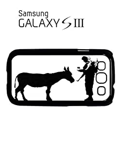 Banksy Soldier Donkey Asking ID Mobile Cell Phone Case Samsung Galaxy S3 Black