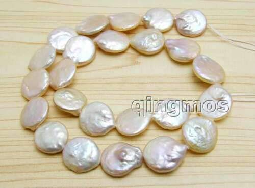 FidgetGear Sale Big 11-12mm Natural White Coin Freshwater Pearl Strands 14