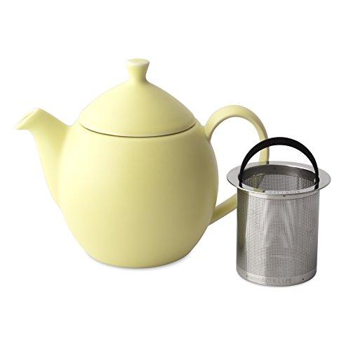 FORLIFE Dew Teapot with Basket Infuser, Lemon Grass, 14 oz/414ml