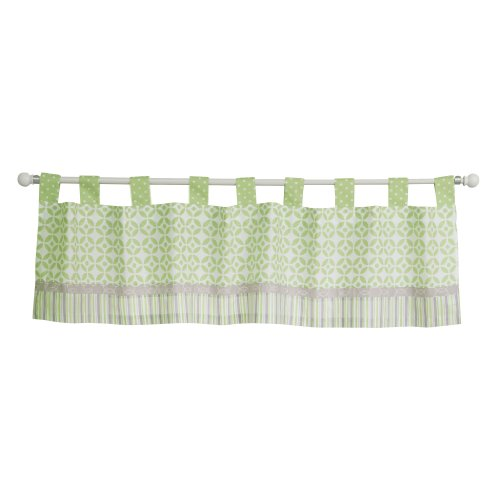 Logan Cotton Curtain (Trend Lab Lauren Window Valance, Green)