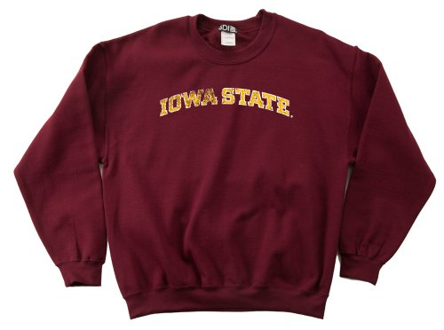 NCAA Iowa State Cyclones 50/50 Blended 8-Ounce Vintage Arch Crewneck Sweatshirt, Small, Cardinal (Double Arch Crew Sweatshirt)