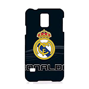 Official Real Madrid Phone Case 3D Plastic Pattern Mystery Durable Accessories for Samsung Galaxy S5 I9600 with Real Madrid Logo