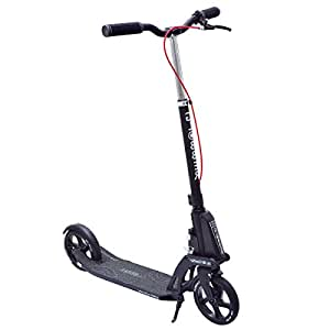 globber adult one kick folding scooter black sports outdoors. Black Bedroom Furniture Sets. Home Design Ideas