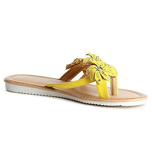 topschuhe24 - Sandalias de vestir para mujer amarillo