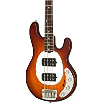 Music Man StingRay HH 4-String Bass Honey Burst Rosewood Fretboard