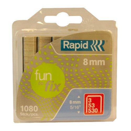 Rapid 40108718 No.53 Grapas de alambre fino 1080 unidades, 8 mm