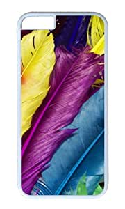 iPhone 6 Plus Case,VUTTOO iPhone 6 Plus Cover With Photo: Colorful Feather For Apple iPhone 6 Plus 5.5Inch - PC White Hard Case