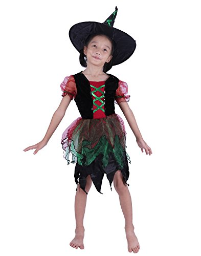 Every Witch Way Halloween Costume (HDE Girl's Witch Halloween Costume Classic Fairy Tale Dress Up Party Outfit)