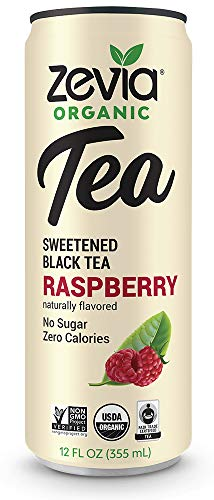 Ice Tea Beverage - Zevia Organic Tea Time Variety Pack, 12 Count, Sugar-Free Brewed Iced Tea Beverage, Naturally Sweetened with Stevia, Zero Calories, No Artificial Sweeteners