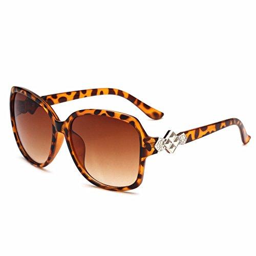 Gafas y rana espejo europeo Estilo mujer para Frame Opcional Trend Big b f de sol RDJM americano Multicolor dncRq44