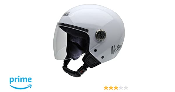 Amazon.es: NZI 050180G001 Helix IV Casco de Moto, Color Blanco, Talla 55-56 (S)