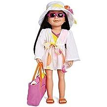 Maplelea's Shoreline Sun, Swim Cover-up for 18 Inch Dolls