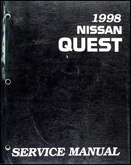 1998 Nissan Quest Van Repair Shop Manual Original