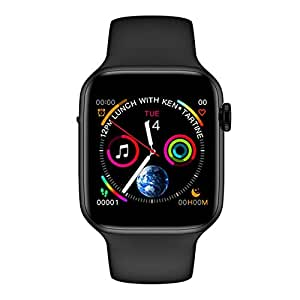 SHISI Inteligente Reloj 1,54 SCOMAS IWO 10 Lite (Color : Black ...
