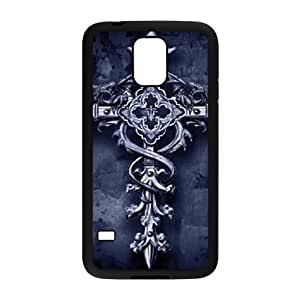 DIY Cover Case with Hard Shell Protection for SamSung Galaxy S5 I9600 case with Vintage Cross lxa#864572 by runtopwell