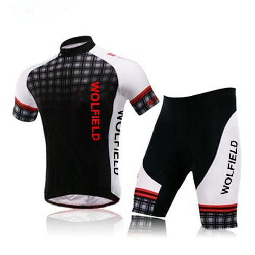 WOLFBIKE Men British Wind Cycling Jersey and Shorts Suit