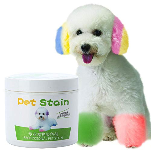Asdf586io Dog Accessories, 100ml Professional Pet Stain Anti Allergic Cat Dog Hair Dye Cream Coloring Agent - Golden