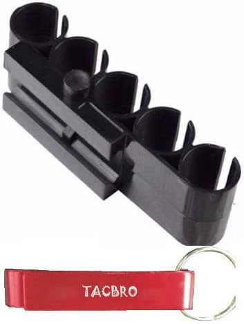 TACBRO Shotgun Shell Carrier - Side Shell Holder - 12 Gauge - 5 Shell Carrier for 12 Gauge Shotguns