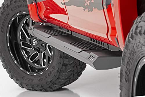 Rough Country HD2 Running Boards Fits 2009-2018 [ Dodge ] Ram Quad Cab Truck Side Steps SRB091777 HD2 Running Boards ()