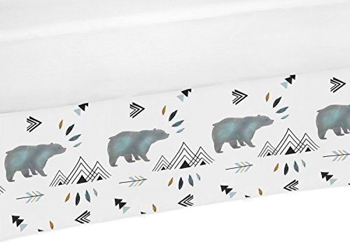 Sweet Jojo Designs Baby Boy Crib Bed Skirt Dust Ruffle for Bear Mountain Watercolor Collection by by Sweet Jojo Designs
