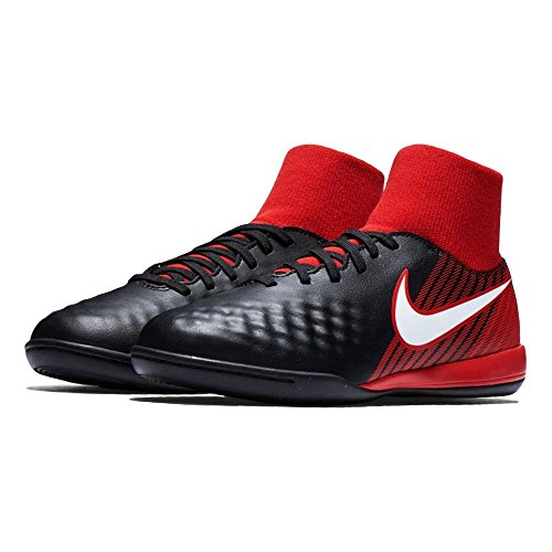Nike Herren Lunarglide 8 Flyknit Laufschuhe Mehrfarbig (Black/University Red/Bright Crimson/White 061)