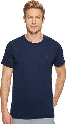 adidas Mens Training Ultimate Short Sleeve Tee, Collegiate Navy, Large