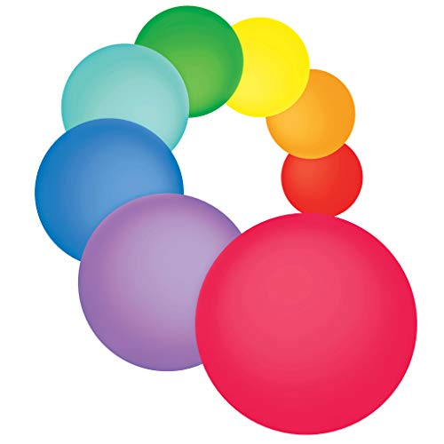 Dry Erase Circles 8 Pieces - White Board Marker Removable Vinyl Dots Sticker Set (11 inch) - Perfect for classrooms, offices, and home - SylkyClover