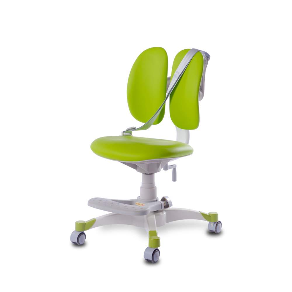 QFFL jiaozhengyi Korrektur Stuhl Stuhl Computer Bank Kinder Lernen Home Drehstuhl Sitzhaltung Korrektur Schreib Stuhl 3 Farben Optional (Farbe   Blau) Grün