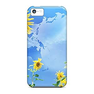 Case Cover Abstract Sunflowers/ Fashionable Case For Iphone 5c
