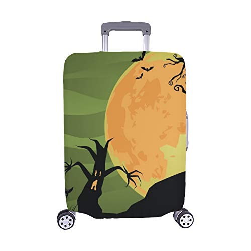 Creepy Halloween Trees Cat Jpg Spandex Trolley Case Travel Luggage Protector Suitcase Cover 28.5 X 20.5 -