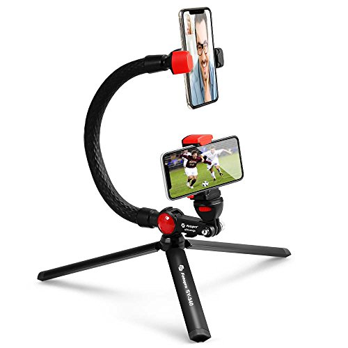 Fotopro Flexible monopod,Selfie Stick for Gopro,Waterproof bentable Foot with 1/4 '' Screw Phone Clip for Live Streaming, Portable Mini Tripod with Bluetooth Remote Control for iPhone Xs Max Samsung from Fotopro