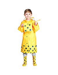 Kids Raincoat Waterproof Rain Slicker Poncho Rain Cape Jacket Suits Rainwear