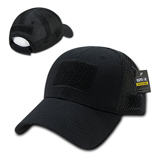 Rapid Dominance Low Crown Air Mesh Tactical Cap With Loop Patch - Black from Rapid Dominance