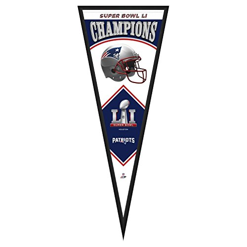 New England Patriots Wall Pennant - Photo File NFL New England Patriots Super Bowl 51 Champions Pennant Frame, 13