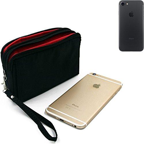 Belt Pack pour Apple iPhone 7, noir. Sac de Voyage, couverture protection body bag Étui housse ceinture. | Poche Outdoor Case camping - K-S-Trade (TM)