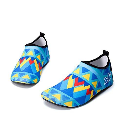 Suave Esquí Playa Parche vadeando el Buceo Zapatos Blue Cutáneo de acuático Zapatos Natación de Zapatos Descalzo TWnfzCq