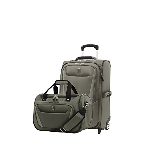 - Travelpro Luggage Maxlite 5 | 2-Piece Set | Soft Tote and 22-Inch Rollaboard (Slate Green)