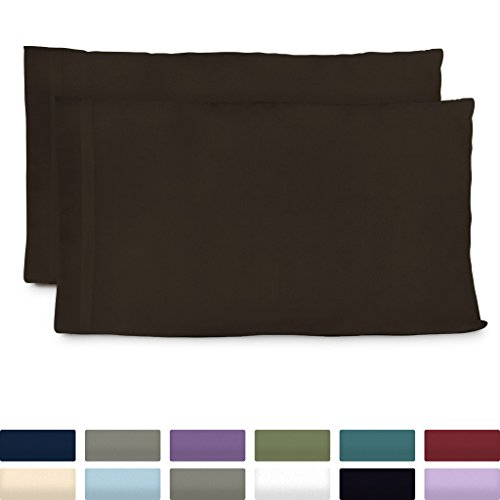 Cosy House Collection Luxury Bamboo King Size Pillow Cases - Chocolate Pillowcase Set of 2 - Ultra Soft & Cool Hypoallergenic Natural Bamboo Blend Cover - Resists Stains, Wrinkles, Dust Mites