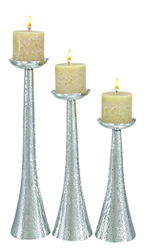 Deco 79 Aluminium Candle Holder, 23 by 20 by 16-Inch, Set of 3 by Deco 79 (Image #5)