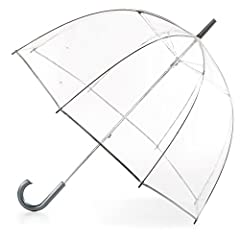 Let your style shine through even on rainy days with totes clear bubble umbrella. Enjoy full protection from wind and rain with a dome-shaped 51-inch clear bubble canopy – totally see-through coverage that protects your hair and makeup from t...