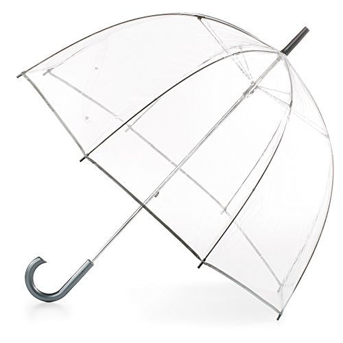 totes Women's Clear Bubble Umbrella (Hat Waterproof Storm)