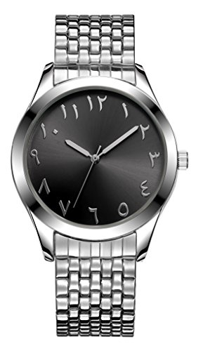 SANQ Arab Numbers Men's Easy Reader Expansion Band Watch