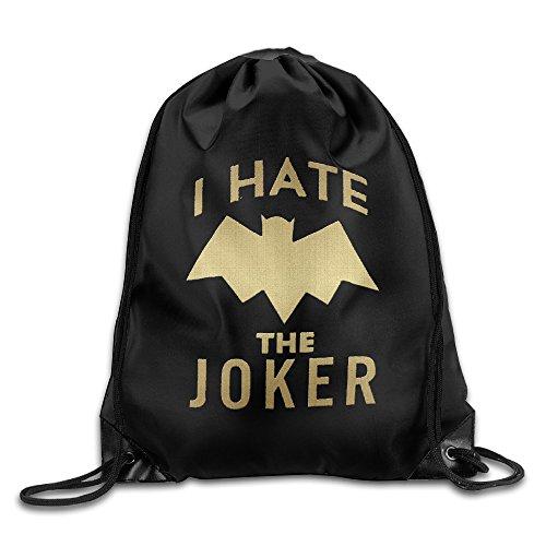 Unisex I Hate Bat  The Joker Sports Drawstring Backpack Bag