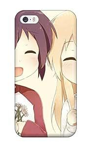 RQJCKUj4781XPjpU DanRobertse Blondes Flowers Anime Closed Bandaidsribbons Funami Yui Toshinou Kyouko Yuru Yuri White Ornaments Durable Iphone 5/5s Tpu Flexible Soft Case