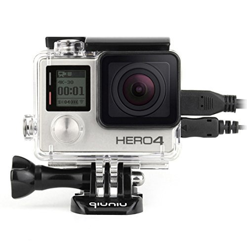 Side Open Protective Skeleton Housing Case with LCD Touch Backdoor for GoPro Hero 4, GoPro Hero 3, and GoPro Hero 3+ - Transparent Clear