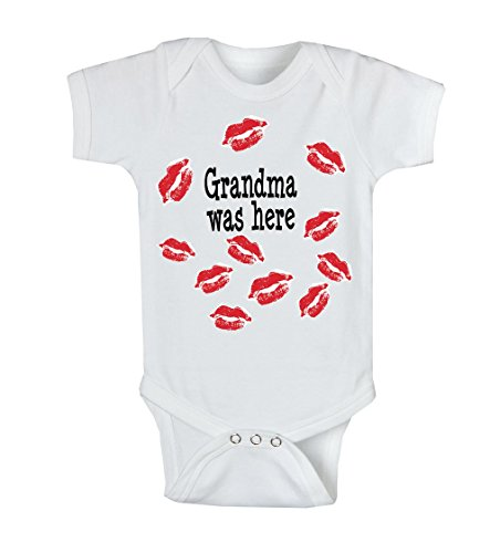World-Accents Grandma was Here Kisses Infant One Piece Bodysuit