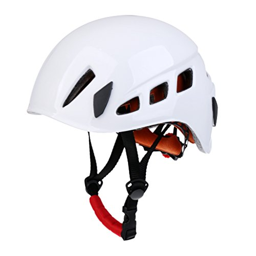 MagiDeal Safety Rock Climbing Caving Rappelling Rescue Helmet Scaffolding Head Protector - White, One Size
