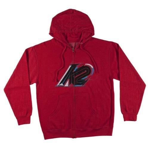 (K2 Ski Rainier Full Zip Hoodie (Red Heather, Small))
