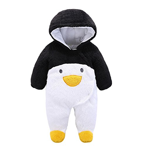 Gaorui Newborn Baby Jumpsuit Outfit Hoody Coat Winter Infant Rompers Toddler Clothing Bodysuit Cartoon