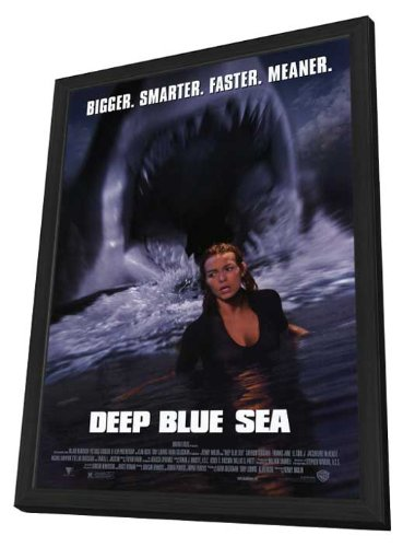 Deep Blue Sea - 11 x 17 Framed Movie Poster